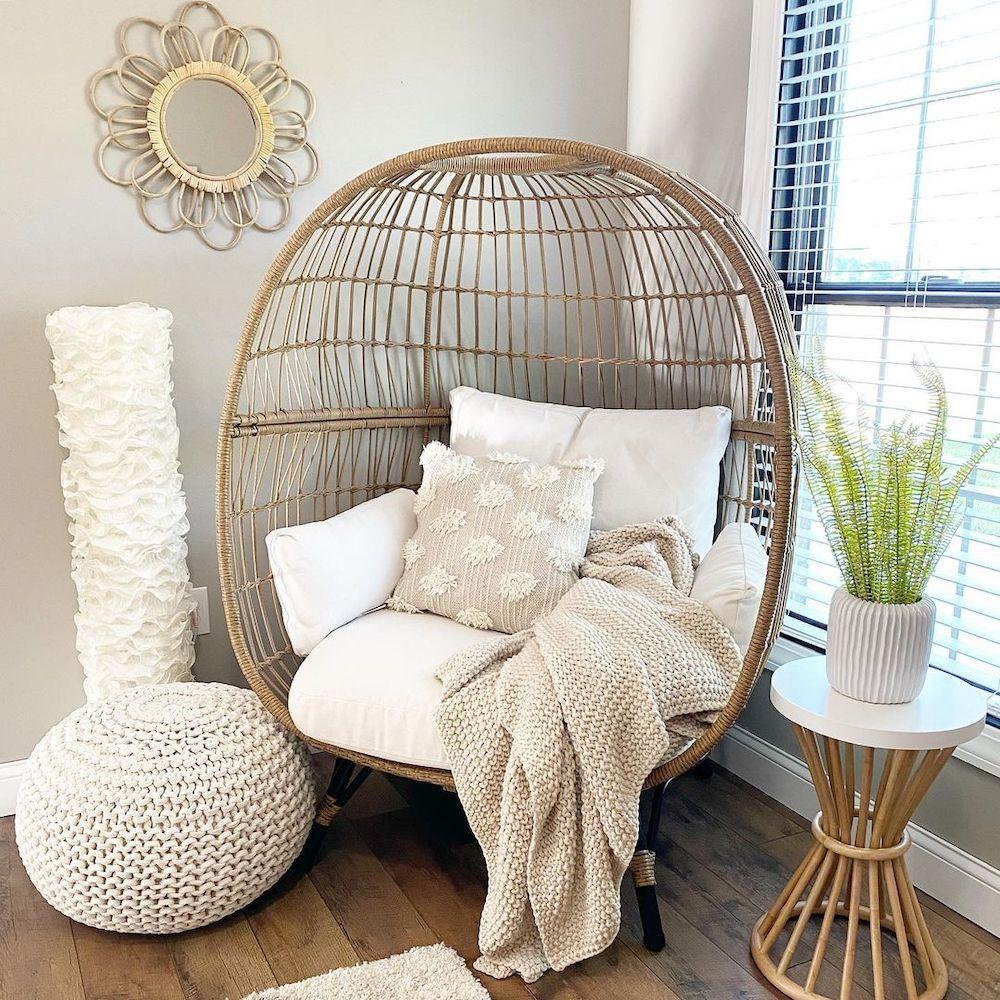 Inspo 2 #Chairs #EggChairs #BohoDecor #CoastalDecor #BeachHouse
