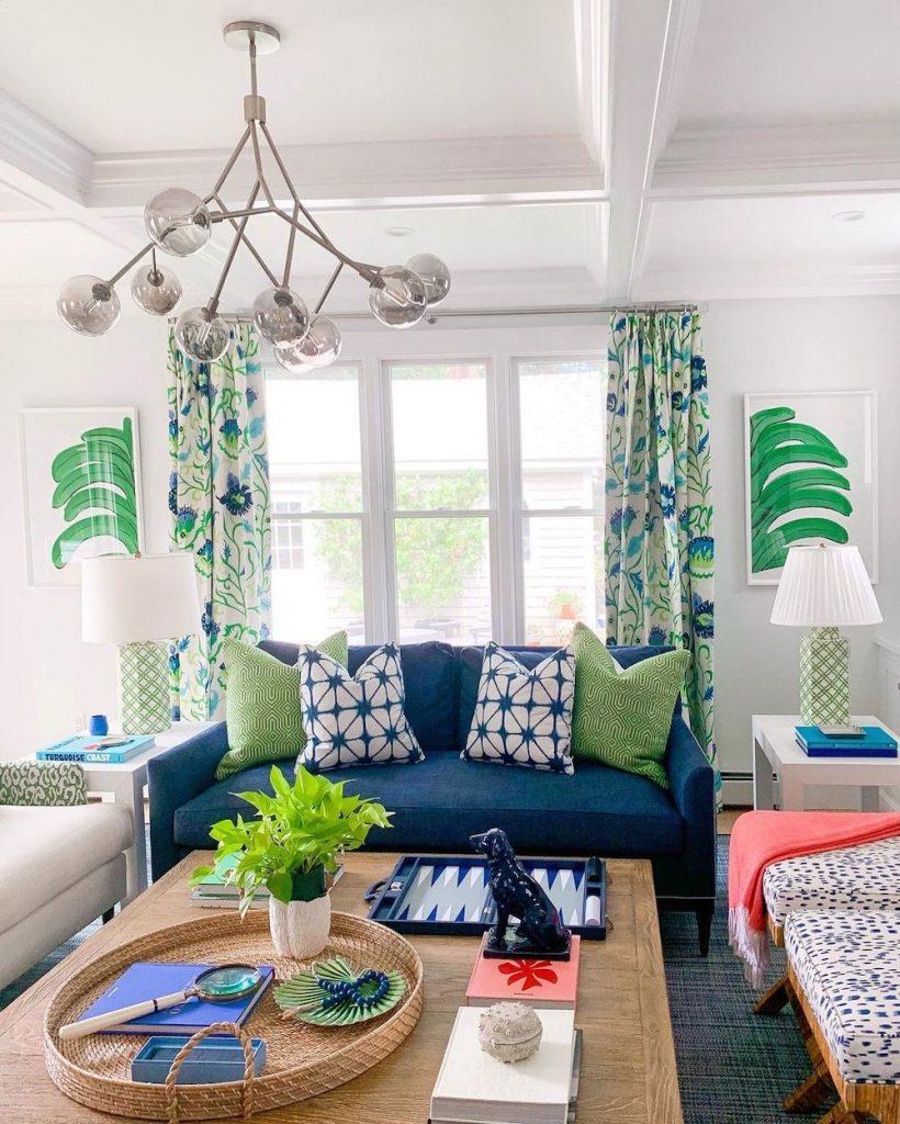 Coastal Blue and Green Interiors Inspo 32 #BlueGreenRooms #BlueGreenInteriors #Coastal #CoastalHomeDecor #HomeDecor #LivingRoomDecor