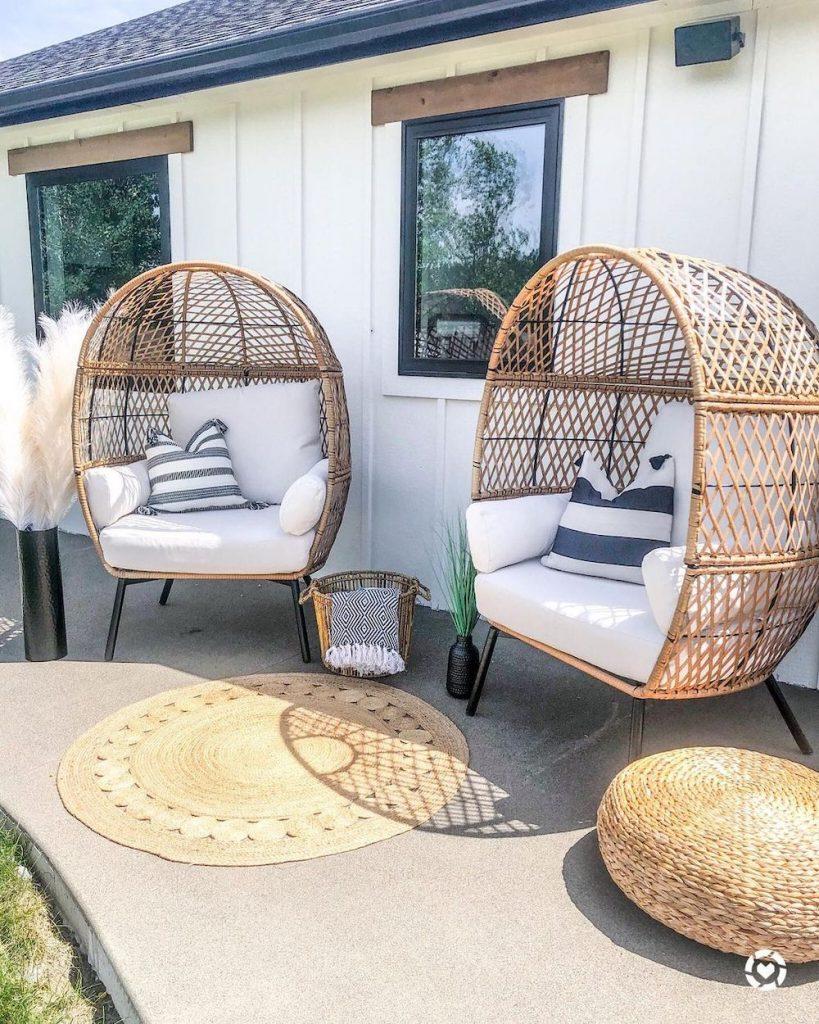 Inspo 4 #Chairs #EggChairs #BohoDecor #CoastalDecor #BeachHouse