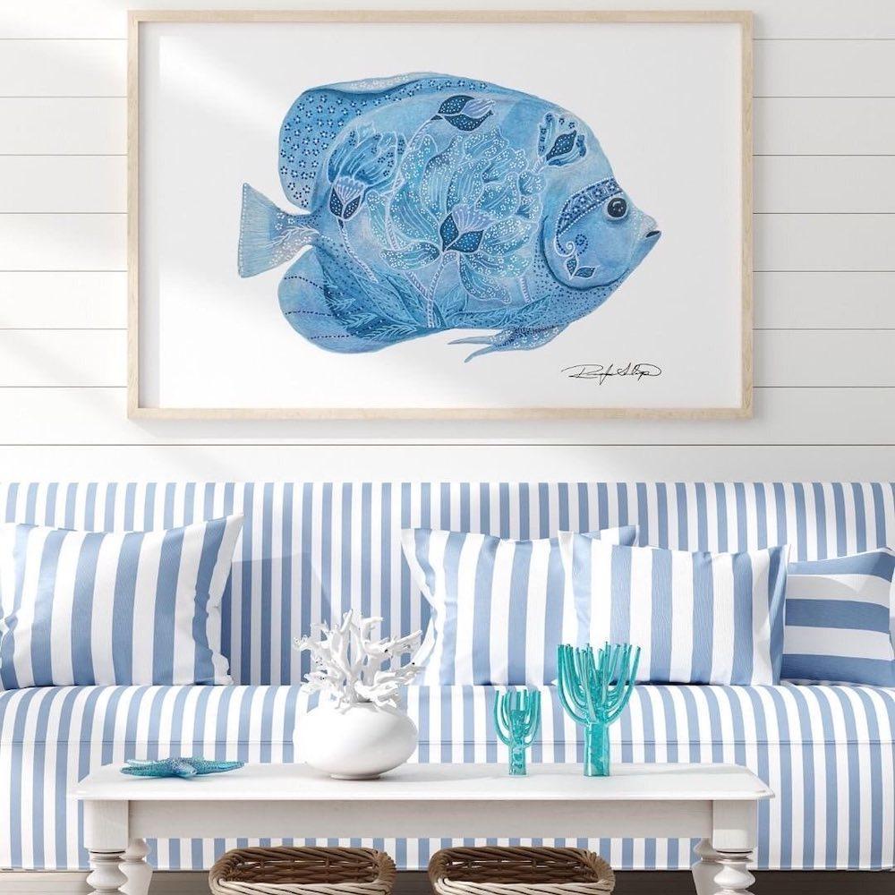 Inspo 8 #Sofas #CoastalBlueandWhite #BlueandWhiteStripedSofas #CoastalDecor #BeachHouse #Inspiration