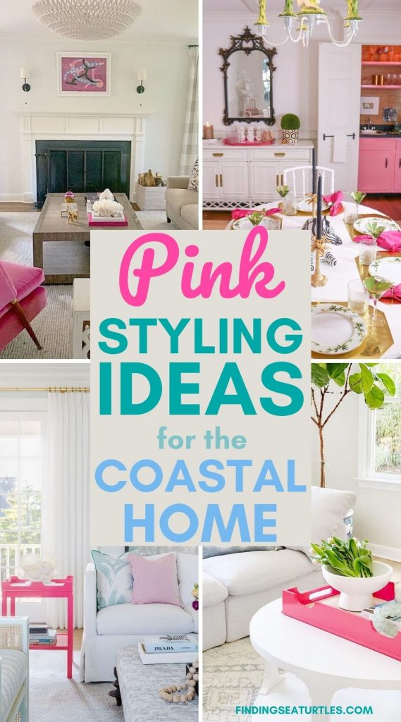 Pink Styling Ideas for the Coastal Home #Pink #PinkAccessories #Coastal #CoastalPinkDecor #BohoCoastal #CoastalDecor #HomeDecor