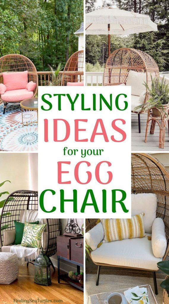 STYLING Ideas for your Egg Chair #Chairs #EggChairs #BohoDecor #CoastalDecor #BeachHouse