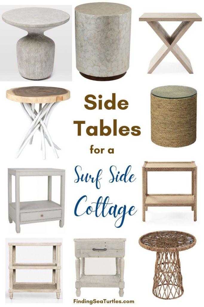 Side Tables for a Surf Side Cottage #CoastalDecor #HomeDecor #BeachHouse