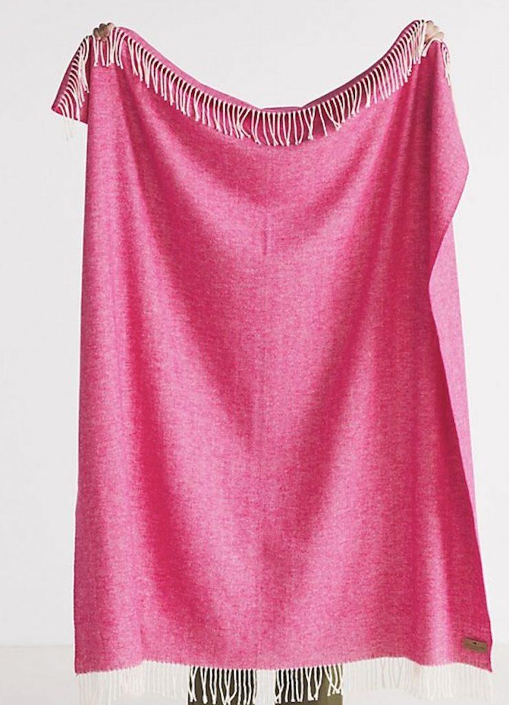 Coastal Pink Styling Ideas Solid Herringbone Throw Blanket #Pink #PinkAccessories #Coastal #CoastalPinkDecor #BohoCoastal #CoastalDecor #HomeDecor