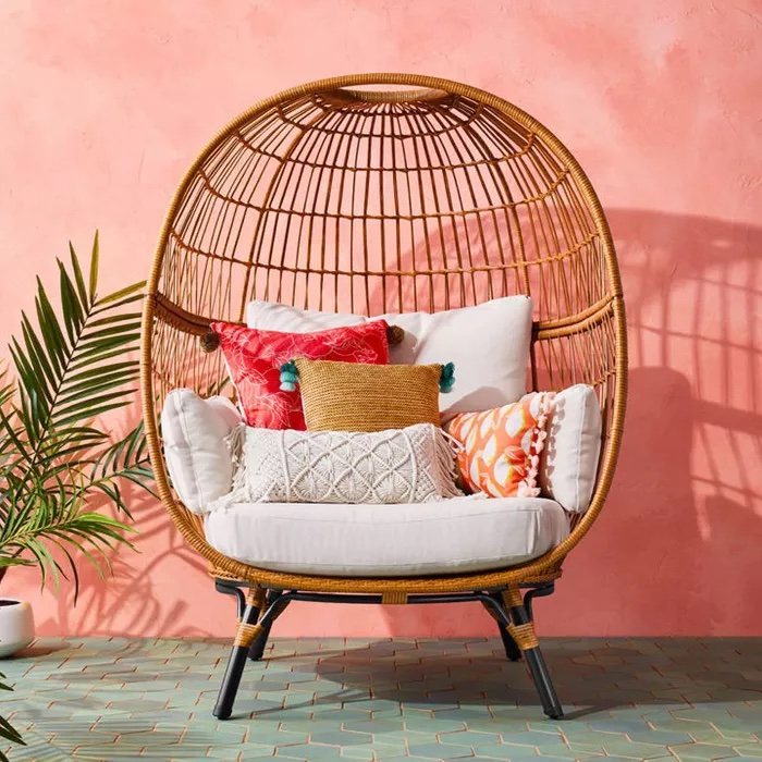 Southport Patio Egg Chair #Chairs #EggChairs #BohoDecor #CoastalDecor #BeachHouse