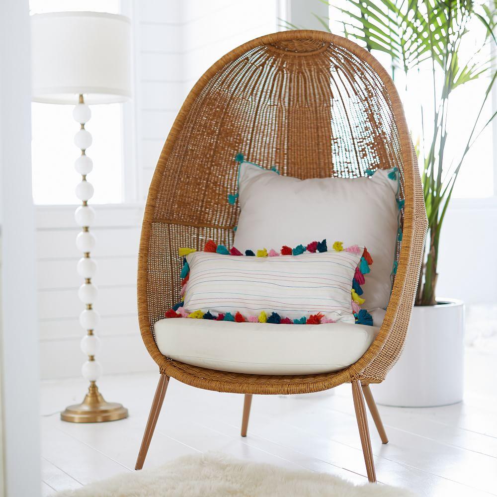 Woven Cave Chair #Chairs #EggChairs #BohoDecor #CoastalDecor #BeachHouse
