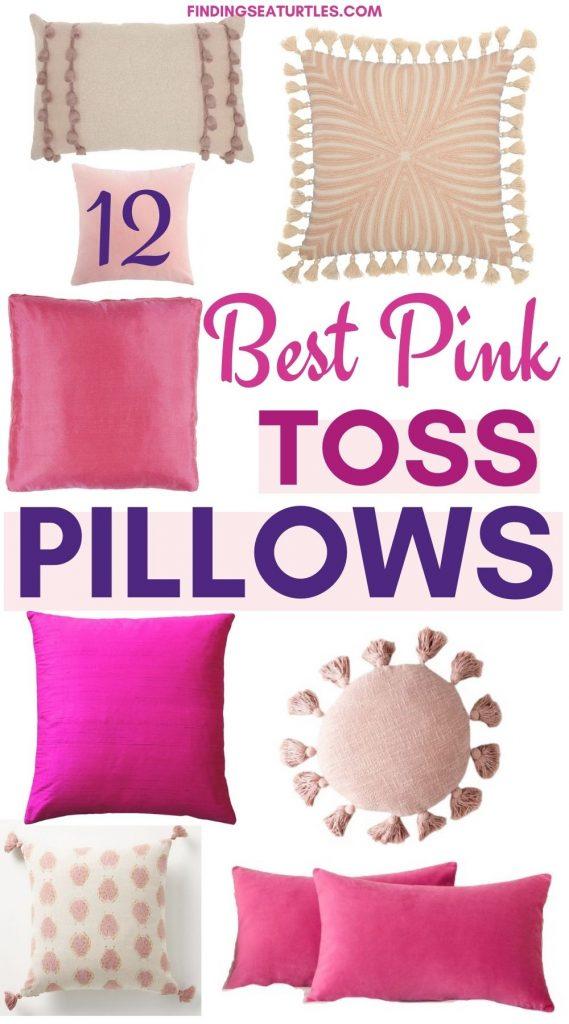 12 Best Pink Toss Pillows #Pink #PinkPillows #Coastal #CoastalPinkDecor #BohoCoastal #CoastalDecor #HomeDecor #LivingRoomDecor