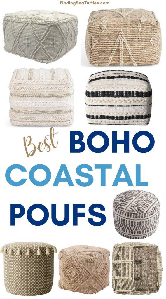 Best Boho Coastal Poufs #Poufs #Ottomans #Boho #CoastalDecor #HomeDecor