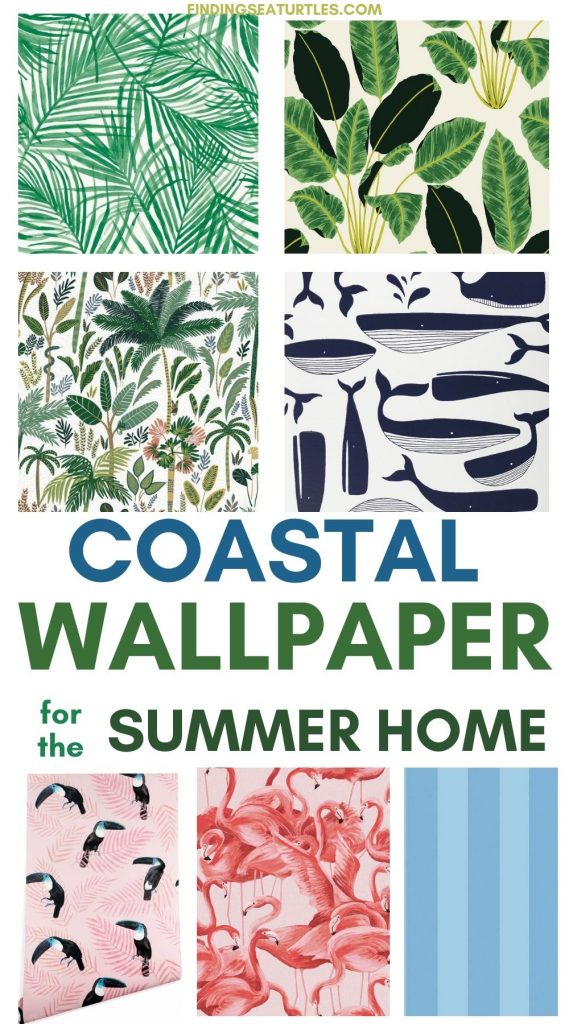 Coastal Wallpaper for the Summer Home #WallPaper #CoastalWallpaper #Coastal #CoastalDecor #HomeDecor