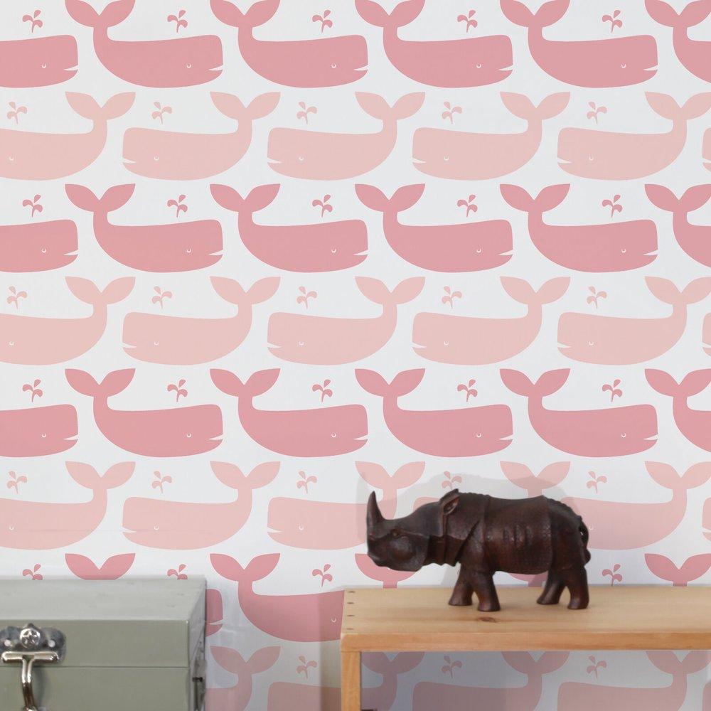 Diorama Whales Wallpaper #WallPaper #CoastalWallpaper #Coastal #CoastalDecor #HomeDecor