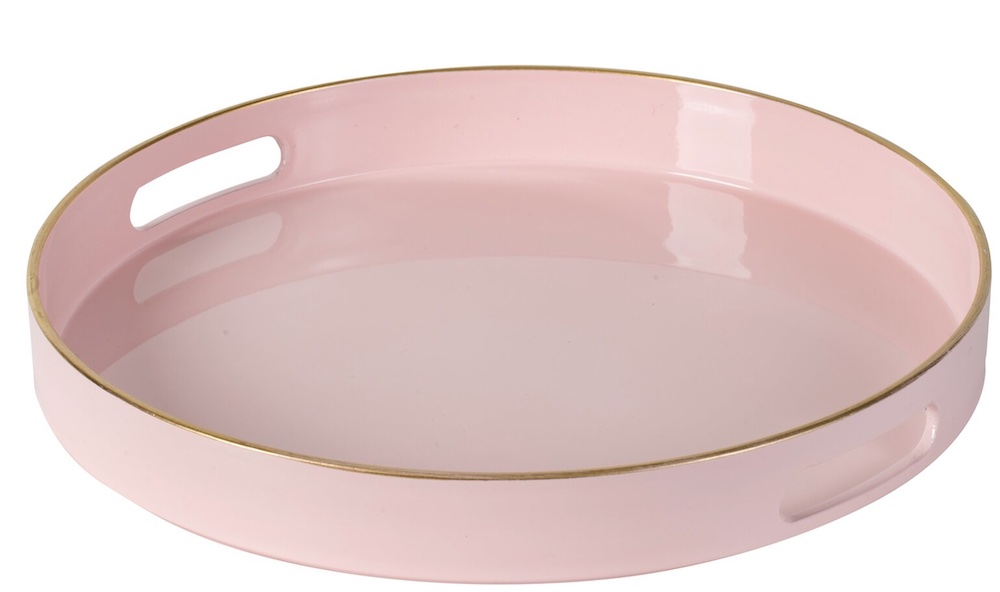 Coastal Pink Styling Ideas Estepp Tray Blush Pink Gold #Pink #PinkAccessories #Coastal #CoastalPinkDecor #BohoCoastal #CoastalDecor #HomeDecor