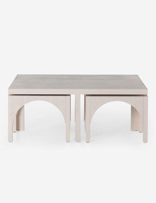 Hilgard Nesting Square Coffee Table #CoffeeTables #CoastalCoffeeTables #BohoCoastal #CoastalDecor #HomeDecor