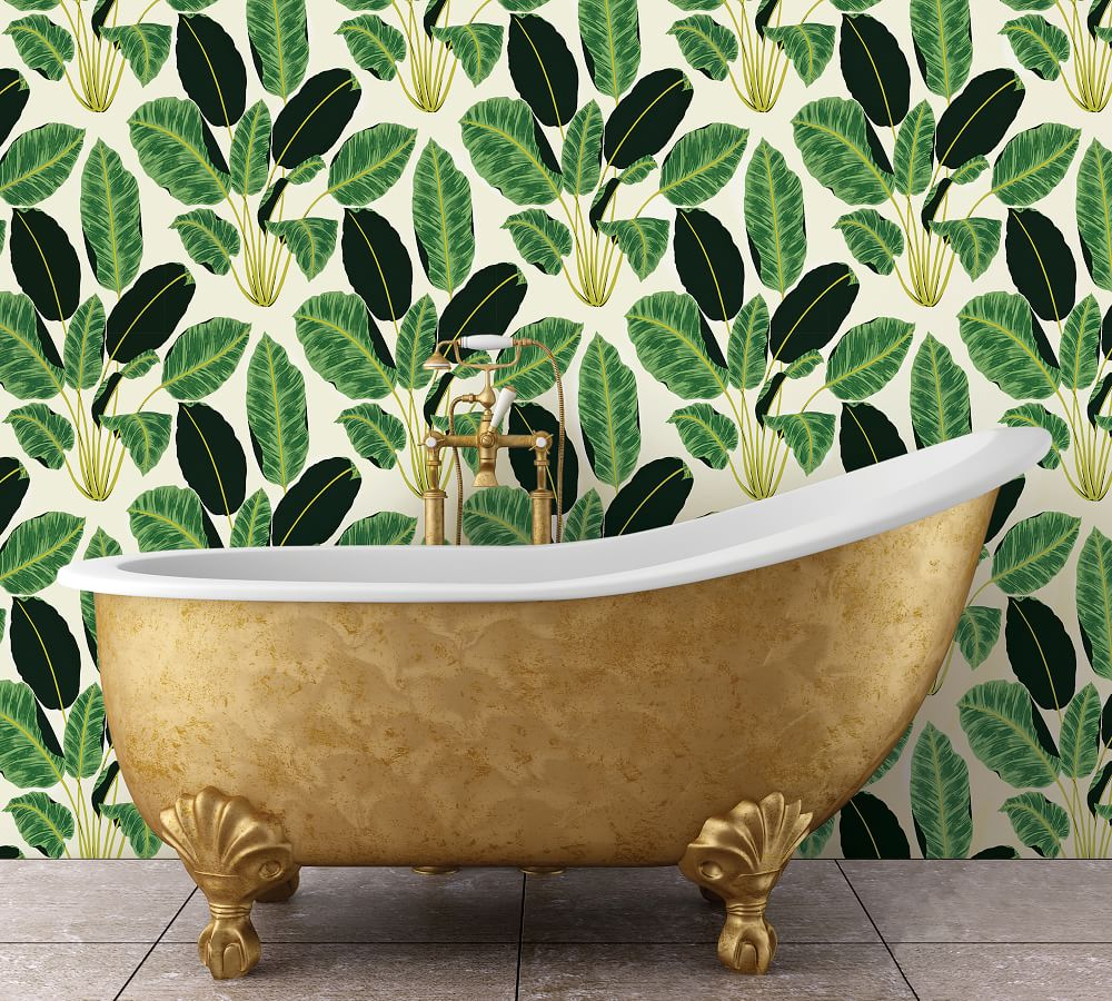 Coastal wallpaper styling ideas Hojas Cubanas #WallPaper #CoastalWallpaper #Coastal #CoastalDecor #HomeDecor