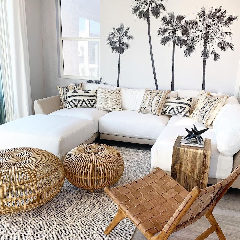Bunching Coffee Table Styling Ideas Inspo 1 #CoffeeTables #CoastalCoffeeTables #BohoCoastal #CoastalDecor #HomeDecor