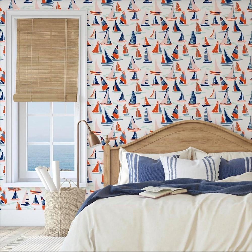 Coastal wallpaper styling ideas Inspo 11 #WallPaper #CoastalWallpaper #Coastal #CoastalDecor #HomeDecor