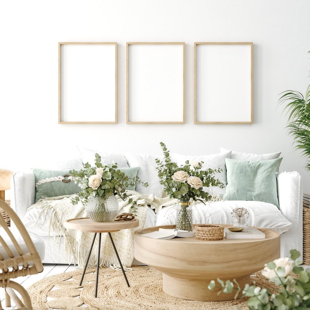 Bunching Coffee Table Styling Ideas Inspo 2 #CoffeeTables #CoastalCoffeeTables #BohoCoastal #CoastalDecor #HomeDecor
