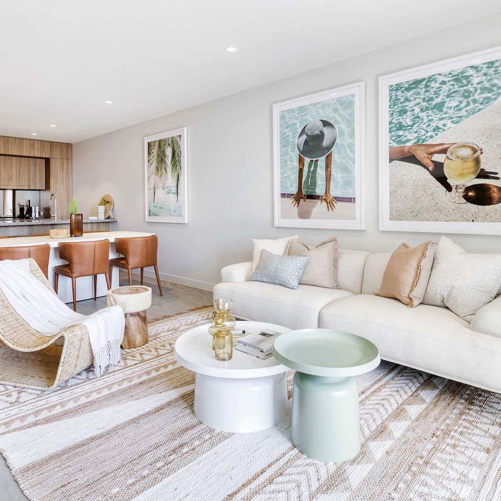 Bunching Coffee Table Styling Ideas Inspo 3 #CoffeeTables #CoastalCoffeeTables #BohoCoastal #CoastalDecor #HomeDecor