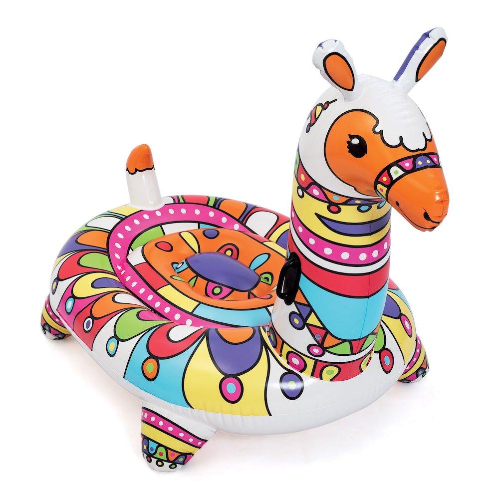 Llama Ride-On Pool Float #Pool #PoolFloats #PoolSide #BeachVibes #Summer #CoastalStyle #CoastalLiving #BeachGear #FamilyFun