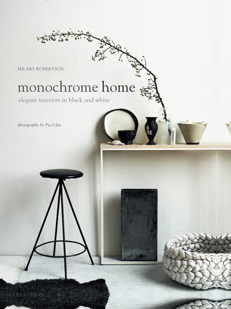 Monochrome Home by Hilary Robertson #HomeDecorBooks #CoffeeTableBooks #Coastal #CoastalDecor #CoffeeTableStyling #HomeDecor
