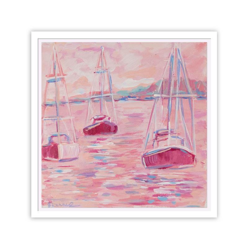 Peach and Rose Sail #WallArt #Pink #PinkAccessories #Coastal #CoastalPinkDecor #BohoCoastal #CoastalDecor #HomeDecor