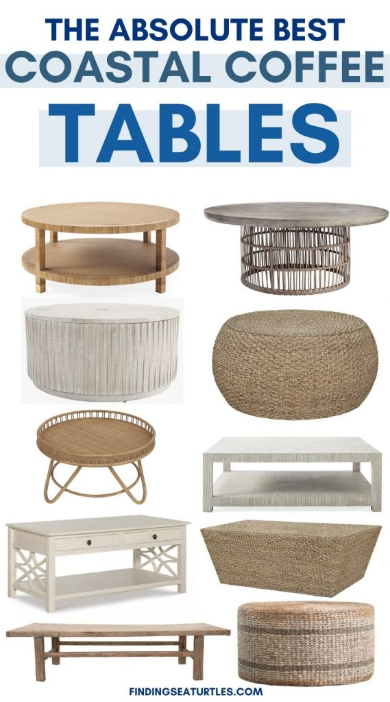 The Absolute Best Coastal Coffee Tables #CoffeeTables #CoastalCoffeeTables #BohoCoastal #CoastalDecor #HomeDecor