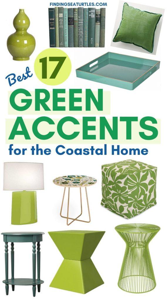 Best 17 Green Accents for the Coastal Home #BlueGreenRooms #BlueGreenInteriors #Coastal #CoastalHomeDecor #HomeDecor #LivingRoomDecor