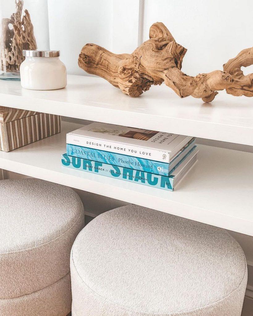 Inspo 5 #DecorBooks #CoffeeTableBooks #Coastal #CoastalDecor #CoastalTableStyling #HomeDecor