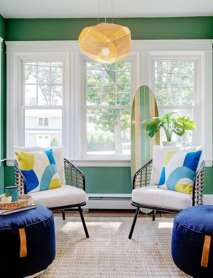 33 Most Inspiring Coastal Blue and Green Interiors to Style Now