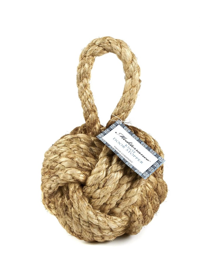 Nautical Knot Door Stopper #Vignette #CoastalVignette #Coastal #VignetteStylingTips #CoastalDecor #HomeDecor
