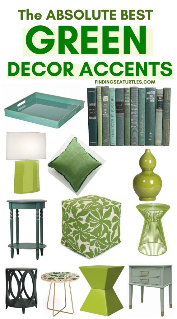 The Absolute Best Green Decor Accents #BlueGreenRooms #BlueGreenInteriors #Coastal #CoastalHomeDecor #HomeDecor #LivingRoomDecor