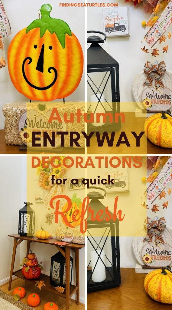 Autumn Entryway Decorations for a quick Refresh #Fall #Entryway #FallEntryway #FallDecor #HomeDecor #AutumnDecor