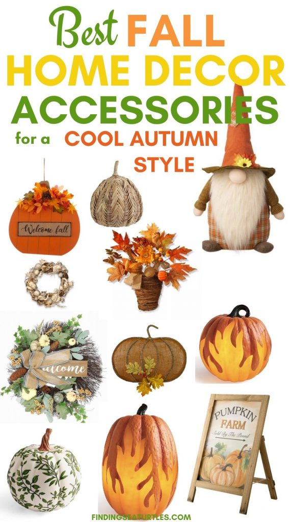 Best FALL Home Decor Accessories for Cool Autumn Style #Fall #HomeDecor #Harvest #AutumnDecor #Pumpkins