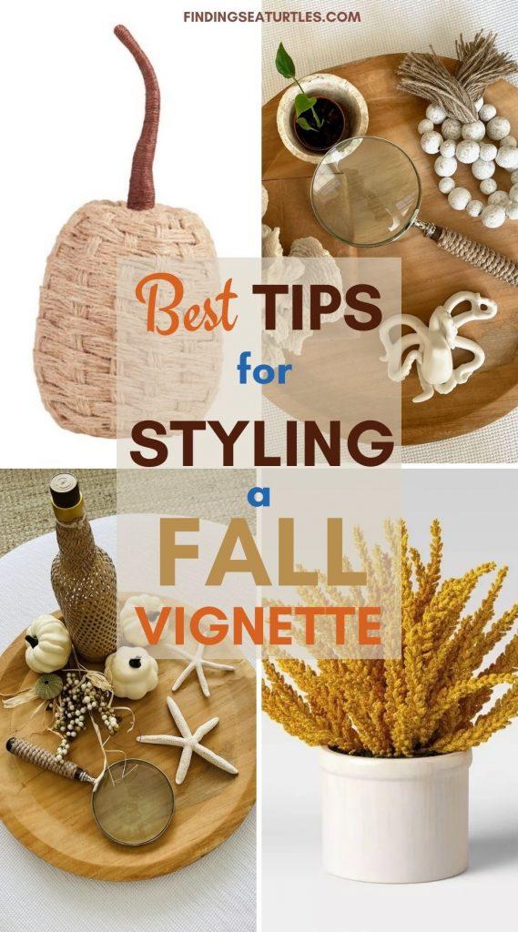 Best Tips for Styling a Fall Vignette #Fall #FallVignettes #FallDecor #FallTableStyling #HomeDecor #AutumnDecor