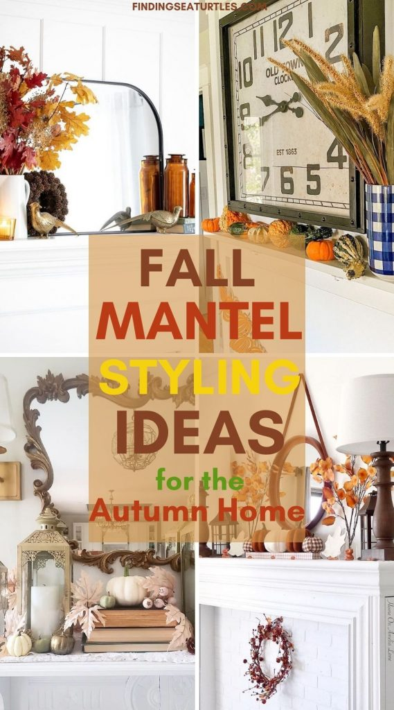 FALL Mantel Styling Ideas for the Autumn Home #Fall #FallMantel #FallDecor #HomeDecor #AutumnDecor