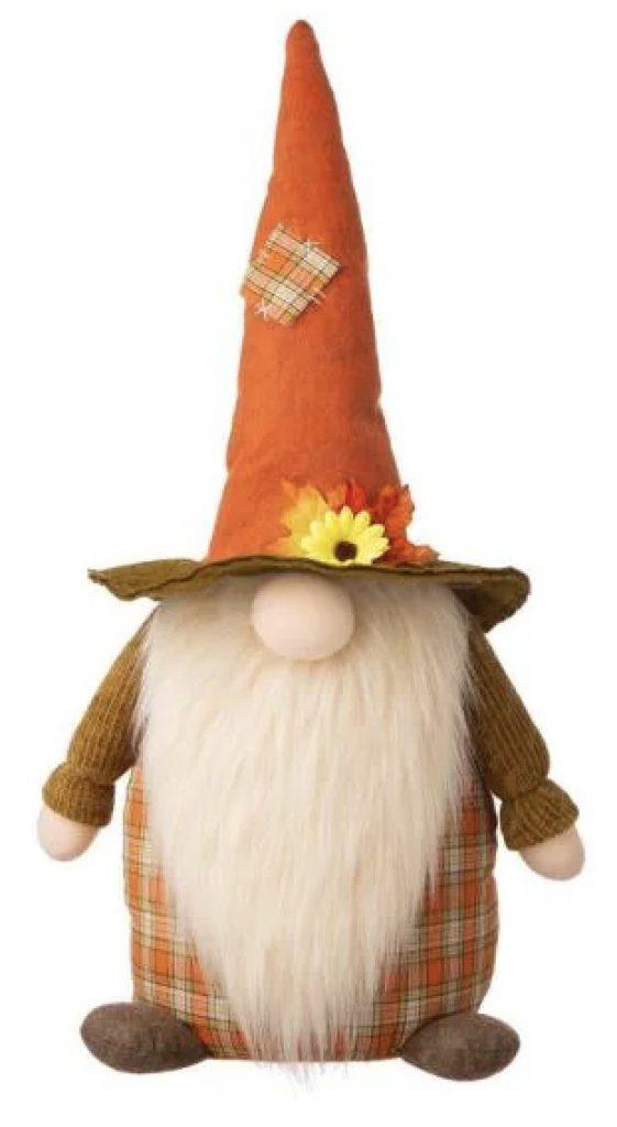 Fall Fabric Gnome Standing Decor Home Depot #Fall #HomeDecor #Harvest #AutumnDecor #Pumpkins