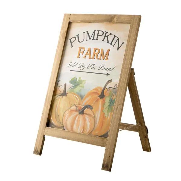 Fall Wooden Porch Standing Sign Home Depot