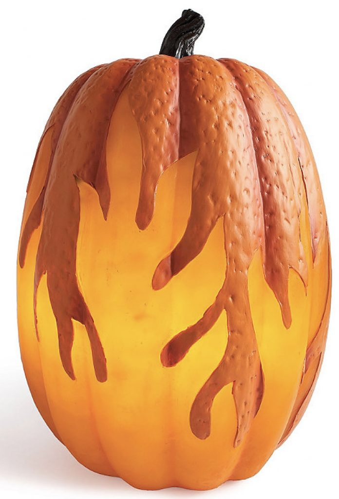 Flame Lighted Pumpkins 1 Grandin Road #Fall #HomeDecor #Harvest #AutumnDecor #Pumpkins