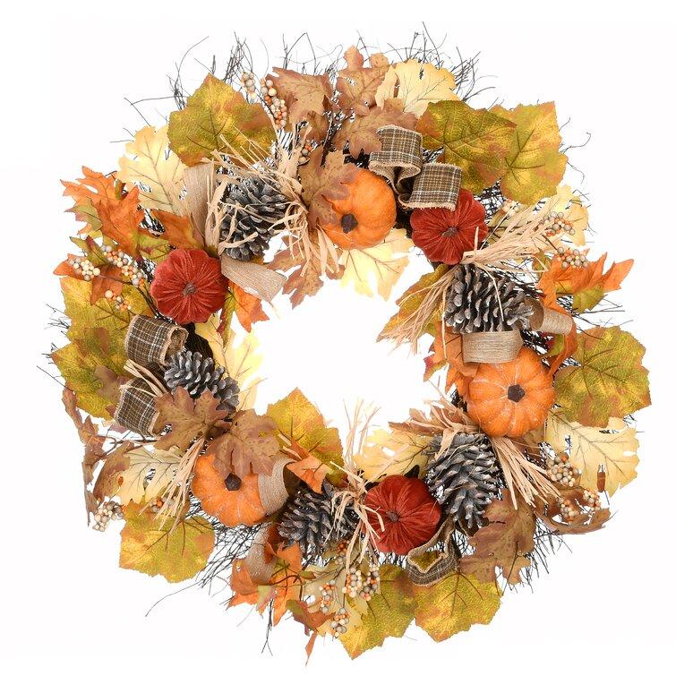 Harvest Décor Wreath #Fall #Entryway #Foyer #FallEntryway #FallDecor #HomeDecor #AutumnDecor