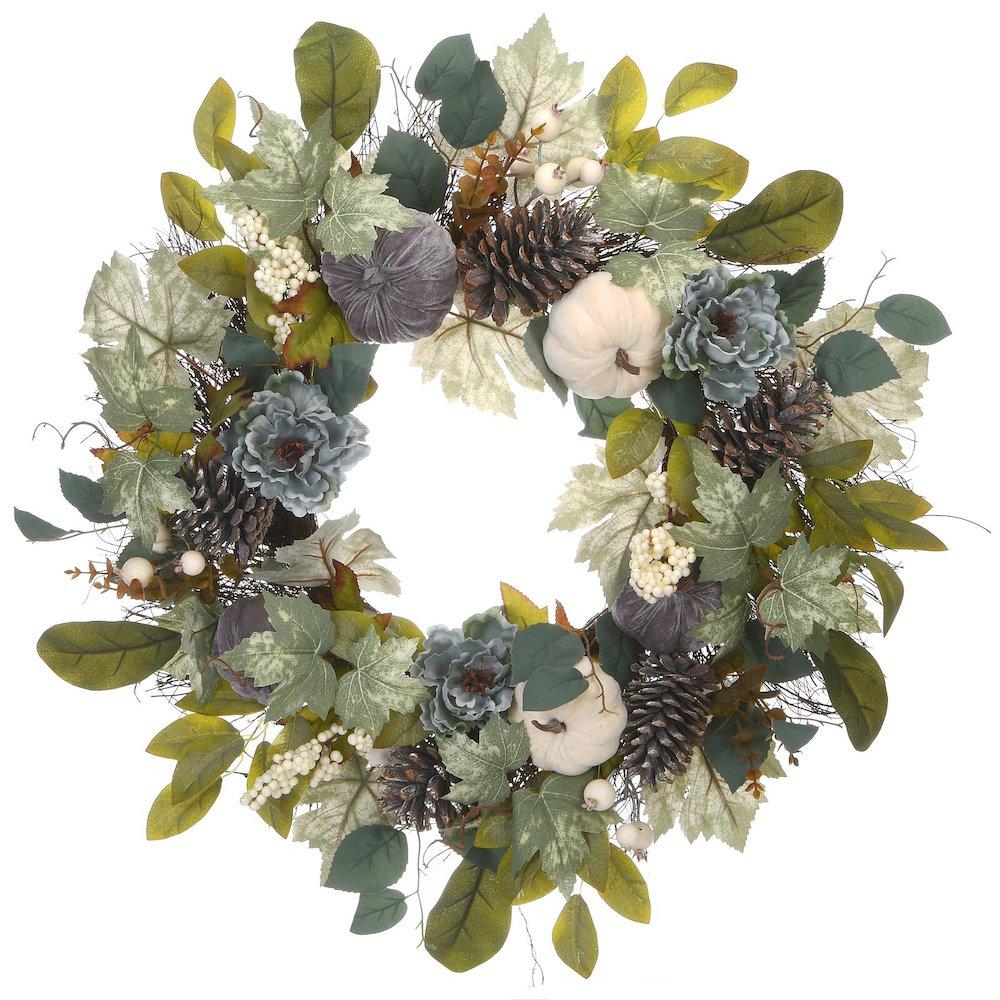 Harvest Wreath #Fall #Entryway #Foyer #FallEntryway #FallDecor #HomeDecor #AutumnDecor