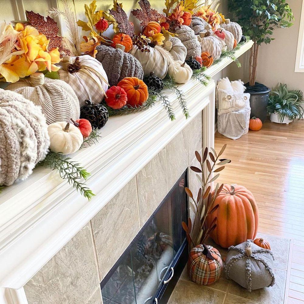 In 11 #Fall #FallMantel #FallDecor #HomeDecor #AutumnDecor