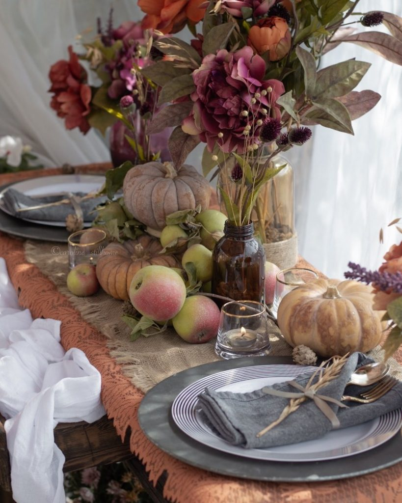 Fall Tablescape Styling Ideas In 16 #Fall #Tablescapes #FallDecor #HomeDecor #AutumnDecor
