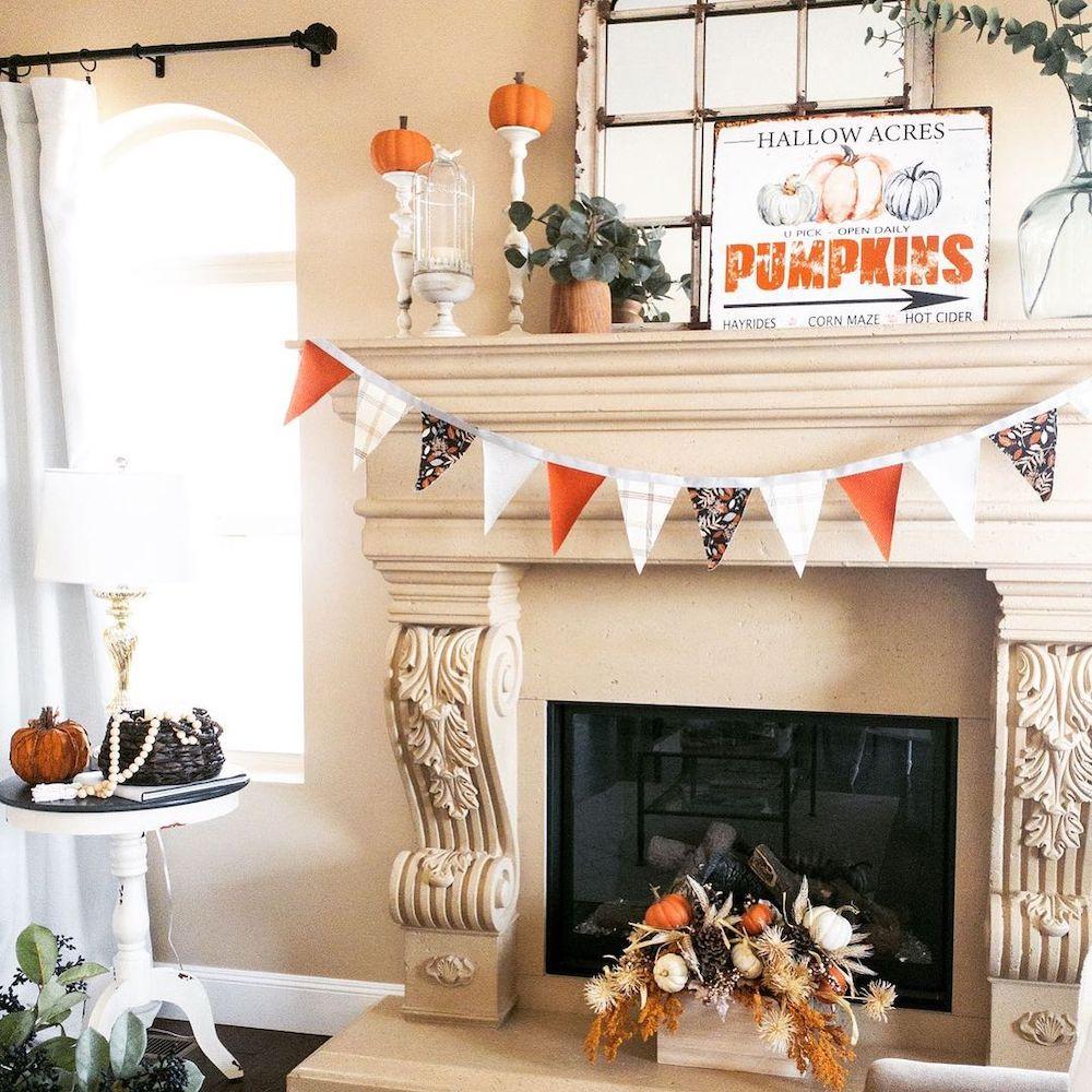 Fall Mantel Styling Ideas In 2 #Fall #FallMantel #FallDecor #HomeDecor #AutumnDecor