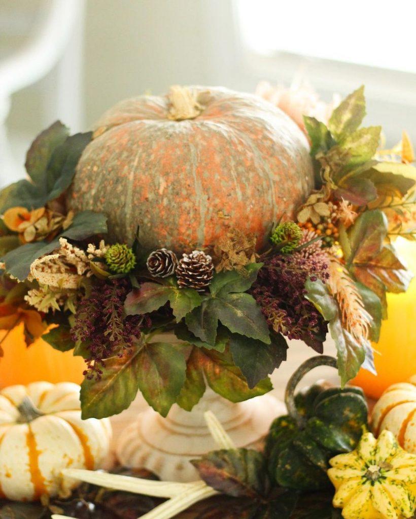 DIY fall centerpiece ideas In 22 #Fall #FallCenterpiece #FallDecor #Autumn #FallTable #HomeDecor