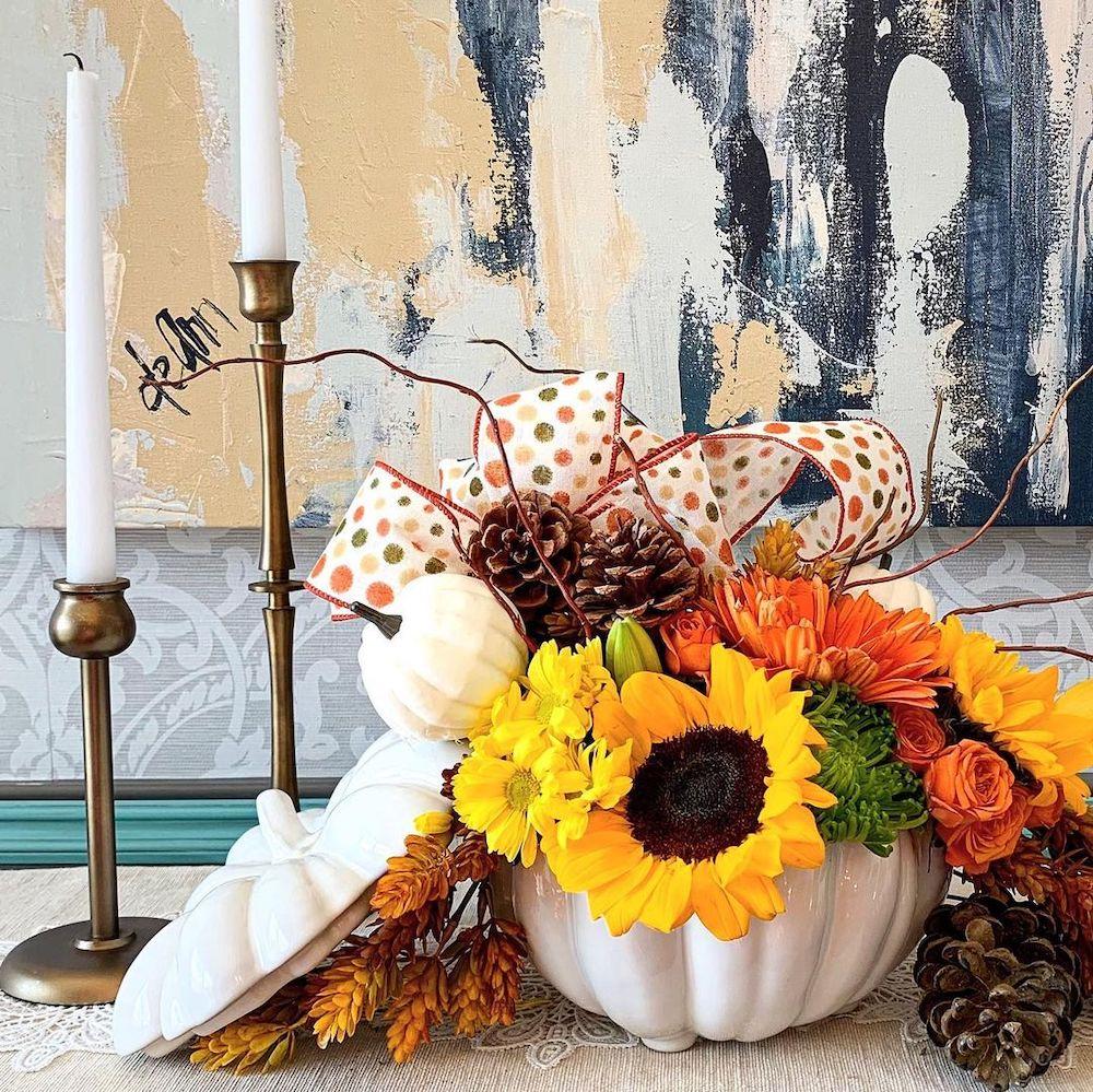 In 34 1 #Fall #FallCenterpiece #FallDecor #Autumn #FallTable #HomeDecor