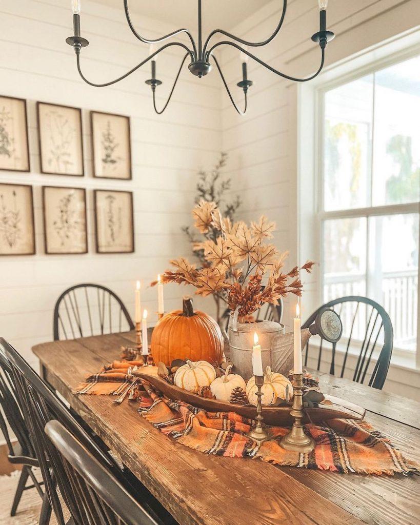 In 35 #Fall #FallCenterpiece #FallDecor #Autumn #FallTable #HomeDecor