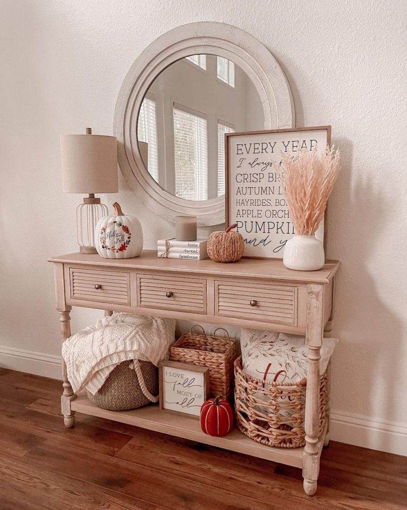 Welcoming Fall-inspired entryway ideas Inspo 25 #Fall #Entryway #FallEntryway #FallDecor #HomeDecor #AutumnDecor