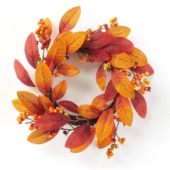 Lakeside Decorative Harvest Hanging Wreath Decoration 2 Target #Fall #HomeDecor #Harvest #AutumnDecor #Pumpkins