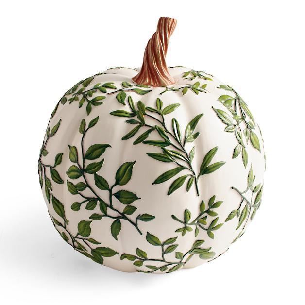 Leaf Vine Pumpkins #Fall #HomeDecor #Harvest #AutumnDecor #Pumpkins