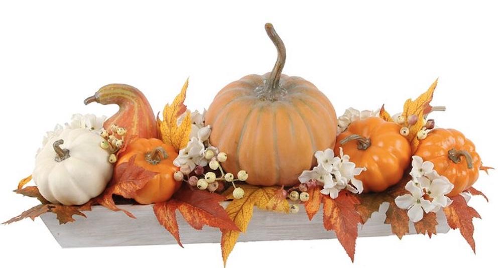 Fall Home Decor Ledge Pumpkin Arrangement Plastic Candle Holder #Fall #HomeDecor #Harvest #AutumnDecor #Pumpkins