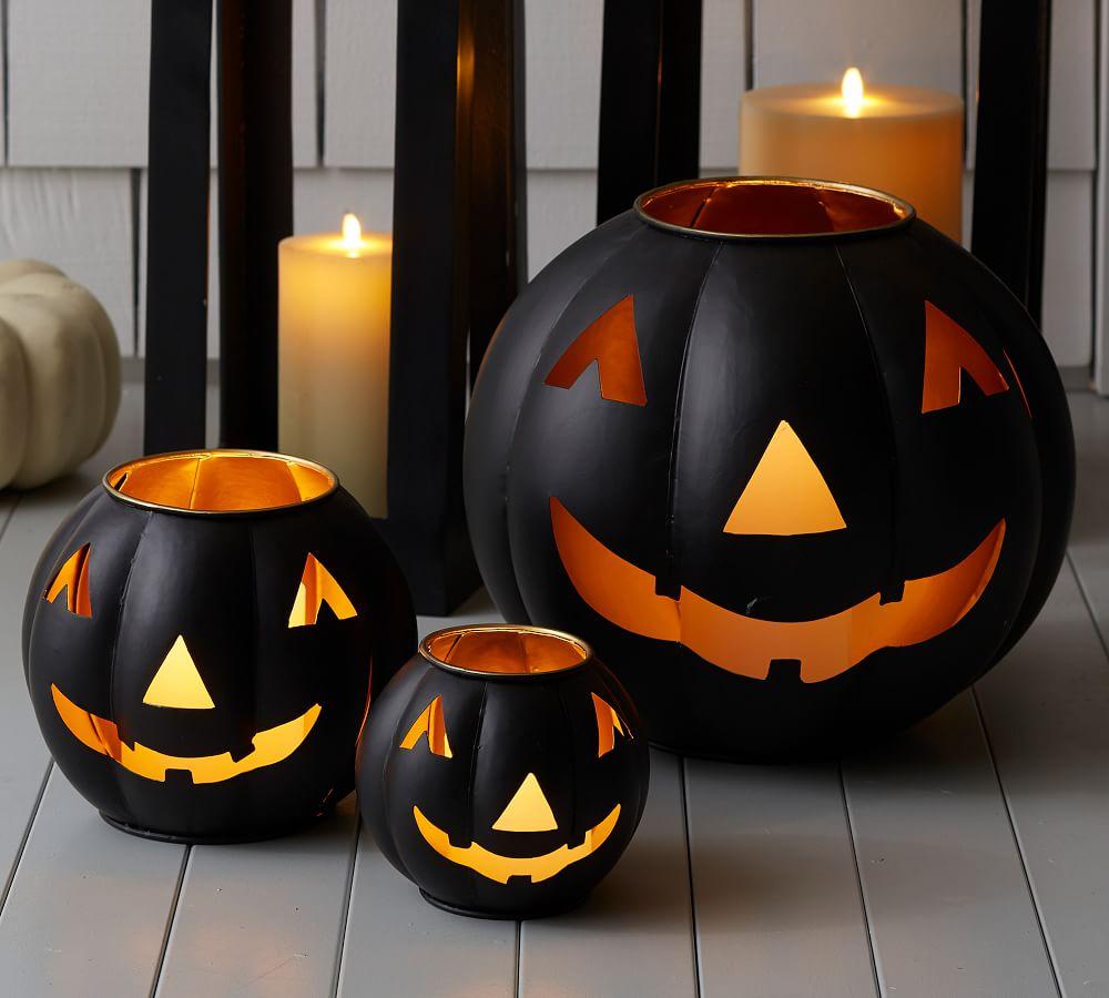 Metal Jack-O-Lanterns - Black 1 Pottery Barn #Fall #HomeDecor #Harvest #AutumnDecor #Pumpkins